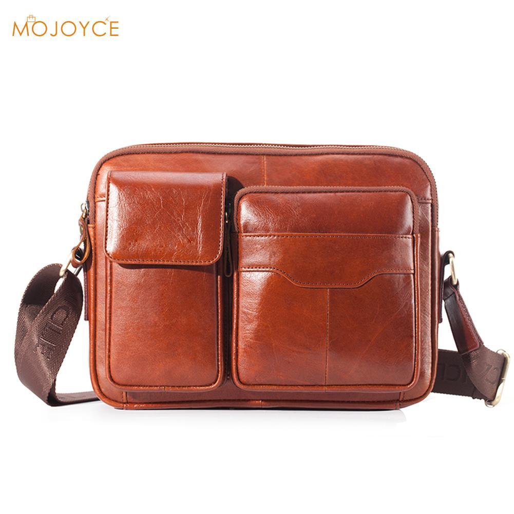 Business Messenger Bag Men Shoulder Bag Genuine Leather Male Crossbody Bags For Men Cross Body Bag Handbags New