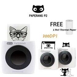 Paperang p2 bolso mini 58mm portátil bluetooth impressora de fotos conexão sem fio hd etiqueta térmica máquina 304 dpi