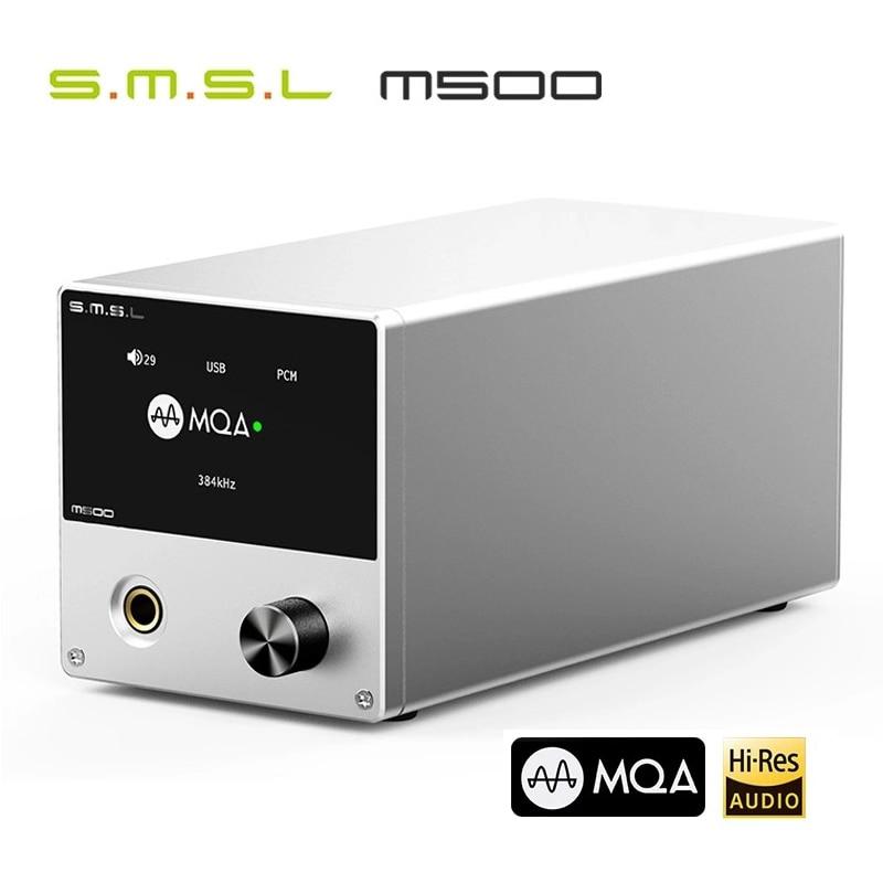 SMSL M500 MQA ES9038PRO ES9311 XMOS USB DAC XU-216 32bit 768kHz DSD512 Hi-Res Audio Decoder Headphone Amplifier