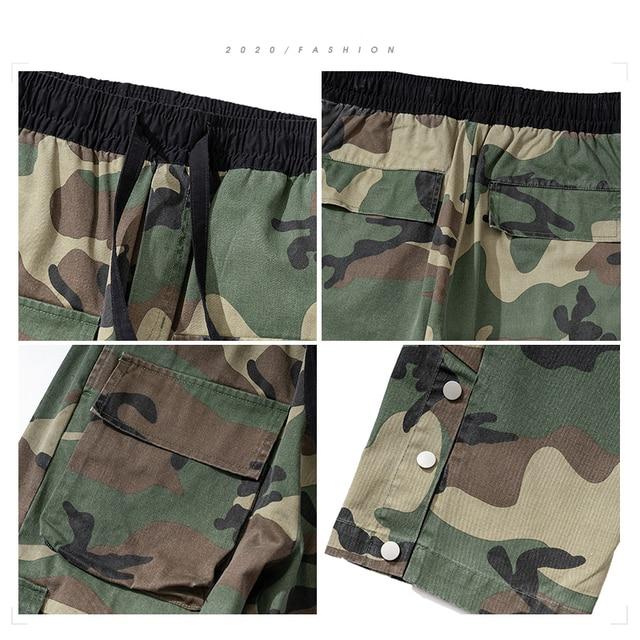2020 pantalones casuales militares Streetwear moda Pantalones verde militar de camuflaje tácticos ropa de camuflaje Pantalones rectos