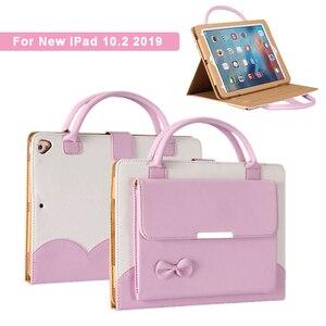 Funda para tableta con patrón de bolso para nuevo iPad 7. ª generación 10,2