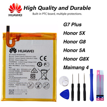 Original Huawei HB396481EBC phone battery For Huawei G7 PLUS HONOR 5X Honor G8 Honor 5A Honor G8X Maimang 4 чехлы для телефонов skinbox huawei honor 5x slim silicone 4people
