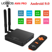 UGOOS AM6 Pro Amlogic S922X Smart Android 9,0 caja de TV DDR4 2GB 16GB 4GB 32GB 2,4G 5G Dual WiFi 1000M LAN BT 4K HD Media Player(China)