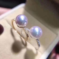 2 farbe Neue Ankunft 14K Gold Ring Halterungen Einstellungen Schmuck Erkenntnisse für Perlen Korallen Achat Kristall Perlen Steine