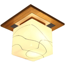 Modern LED Round Ceiling Light Fixtures for Living Room Bedroom Wood Glass Iron Home Loft Decor Square Ceiling Lamp Lights Room white glass ceiling lamp modern design frosted glass shade light home collection lighting bedroom foyer doorway cloud lights