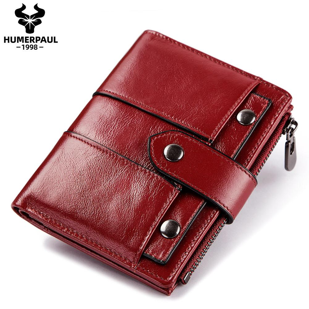 Leather Women Wallet Hasp Small and Slim Coin Pocket Purse Women Red Wallets Cards Holders Luxury Brand Designer Ladies Purse
