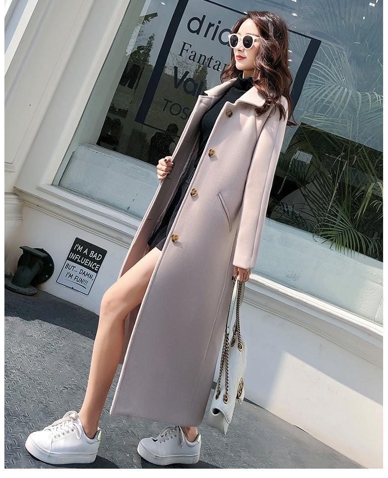 versão coreana do versátil grande tamanho casaco