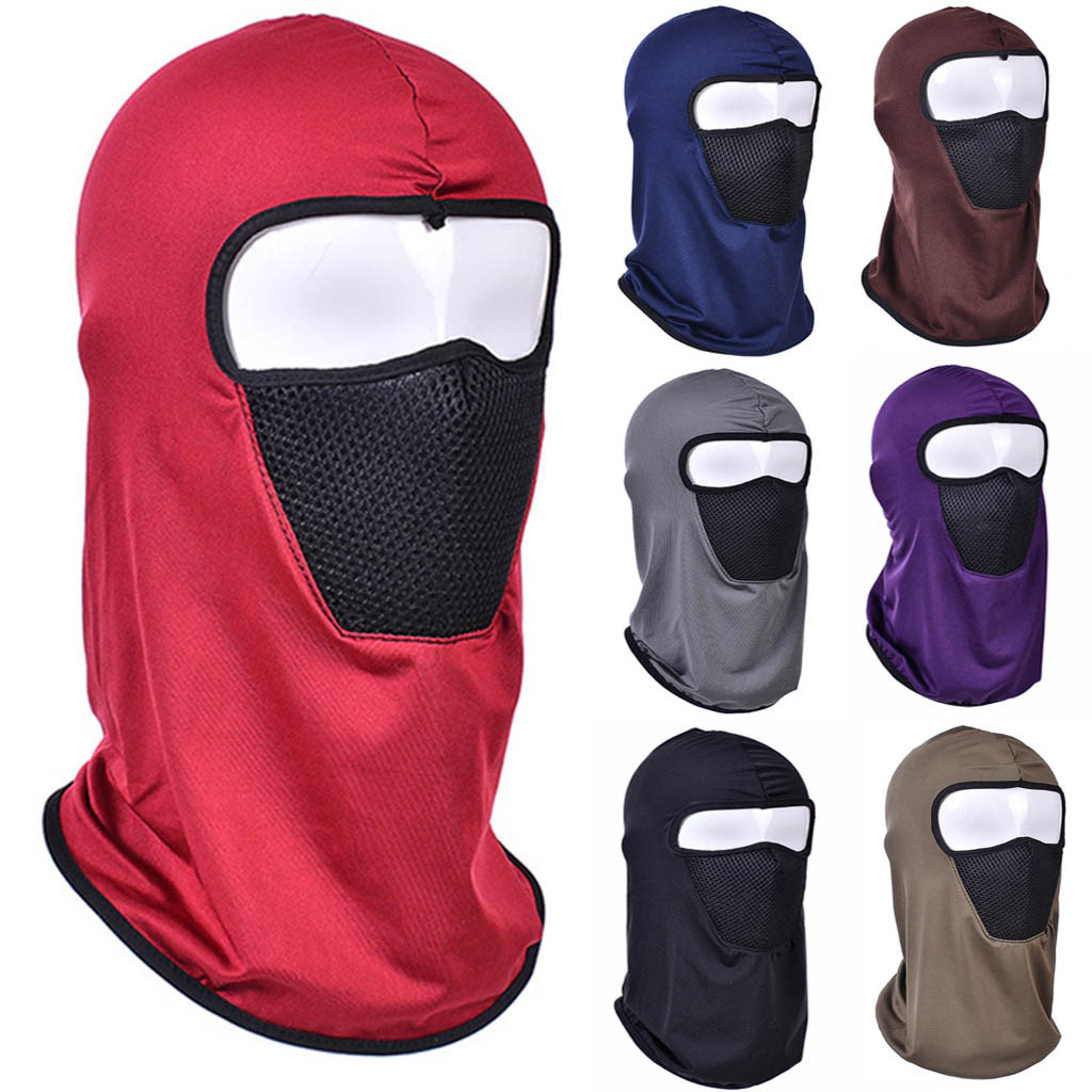 Unisex  Casual Motorcycle Cycling Hunting Outdoor Ski Cotton Face Mask Helmet Riding Mask Windproof Sand Cold Prevention Gift