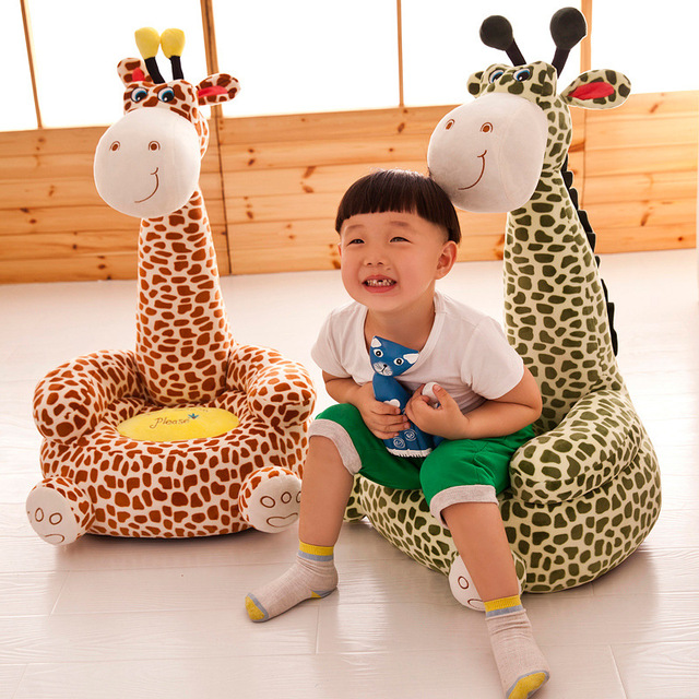 Baby Chair Toddler Nest Puff Seat Children Seat Sofa Washable Only Cover No Filling Kids Bean Bag Cartoon Bear Skin Upscale 2