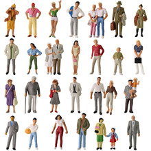 30pcs All Standing O scale People 1 43 Scale Painted Figures Railway Figures Scenery Miniature P4310 cheap evemodel CN(Origin) Plastic Can not eat Model Figures 14 years old P4302 Unisex Modern