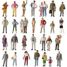Figuras de ferrovia de escala 1:43, figuras pintadas em miniatura p4310 30 peças