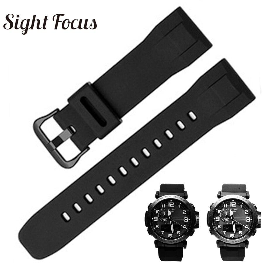 24 мм черный резиновый ремешок для часов Casio PRG 600/600Y Wachband PRW 6600 ремешок для часов 24 мм Casio ремень Uhrenarmband водонепроницаемый|Ремешки для часов|   | АлиЭкспресс