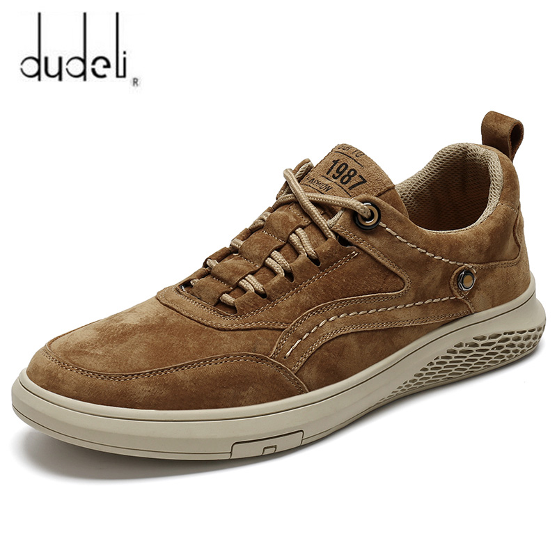 Men Shoes Fashion Genuine Leather Loafers Breathable Autumn Lace Up Comfortable Casual Outdoor Sneakers Shoes Zapatos Hombre 47