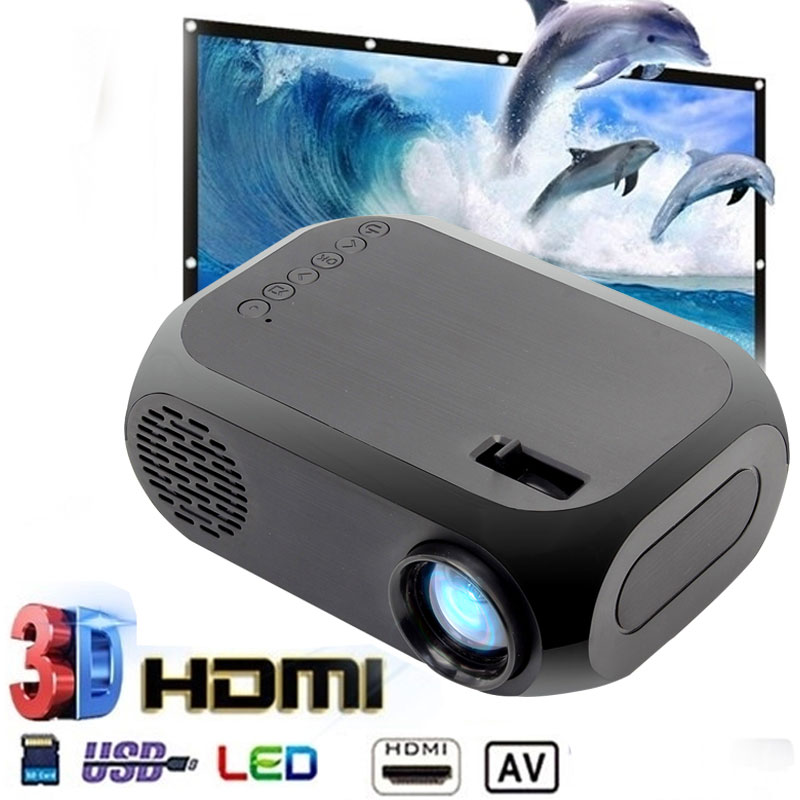 Caliente 2color BLJ-111 LCD FHD Smart proyector 3D 1920*1080P Mini Interfaces proyector soporte USB AV HDMI película de cine en casa