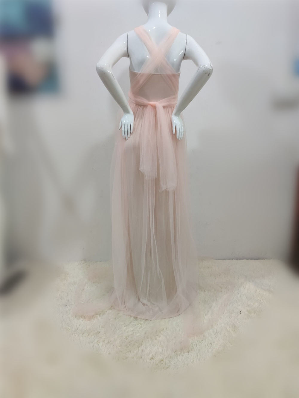Tulle Sexy Maternity Dresses Photography Props Long Fancy Pregnancy Dress Mesh Pregnant Women Maxi Gown Clothes For Photo Shoots (32)