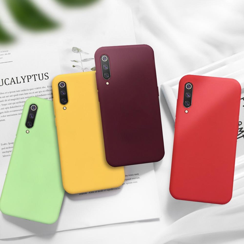 Candy Color Matte Phone Case For Xiaomi Mi 9T Pro 9 SE 8 A2 Lite Redmi Note 7 6 Pro 7A 6A K20 Pro Solid Soft TPU Case Back Cover