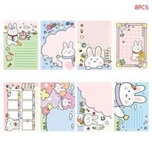 8 шт kawaii блокнот для заметок с мультяшным кроликом n times