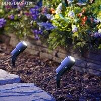 Latest outdoor led garden lawn light IP65 waterproof spike lights spot landscape lighting paths garden road 110 220V 7W COB CREE