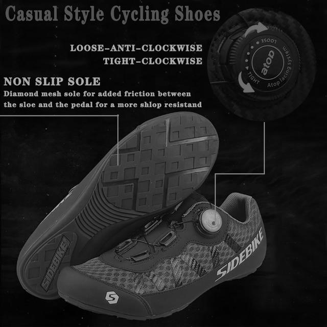 Sidebike 2 cores sapatos de ciclismo men pro team mountain road bicicleta sapatos de borracha respirável desbloqueado sapatos mtb 36-46 tamanho 2