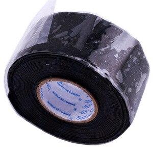 Image 3 - 1 adet faydalı araçlar su geçirmez silikon performans tamir bandı yapıştırma kurtarma kendini fırınlama tel hortum için siyah bahçe su boru konnektörü