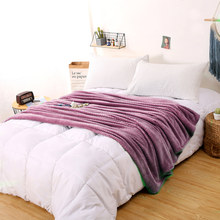 Super Soft Flannel Fleece Throw Blanket Soft Travel Blanket Solid Color Bedspread Plush Cover for Bed Sofa Warm Gift Dropshipp(China)