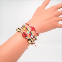Go2boho Shell Bracelet MIYUKI Tila Beads Bracelets Red Heart Pulseras Mujer 2019 Bohemian Summer Beach Jewelry Women Handmade