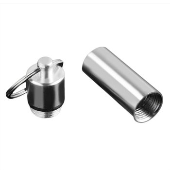 Small Size Keychain Design Travel Pill Box Waterproof Aluminum Alloy Drug Storage Case Holder Container 1pcs