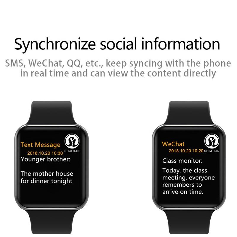 50% de réduction sur montre intelligente série 4 SmartWatch étui pour apple 5 6 7 iPhone Android téléphone intelligent moniteur de fréquence cardiaque pedometor (bouton rouge) - 4