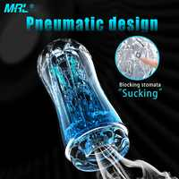 MRL Male Masturbator Cup Soft Pussy Sex Toys Transparent Vagina Adult Endurance Exercise Sex Products Vacuum Pocket Cup for Men