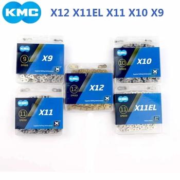 Oryginalna KMC łańcuch rowerowy X9 X10 X11 X11 EL X12 łańcuch rowerowy 10 prędkości drogowe MTB mechanizm korbowy Shimano SRAM 9 10 11 12s przerzutka 116L tanie i dobre opinie CN (pochodzenie) KMC X9 X10 X11 X12