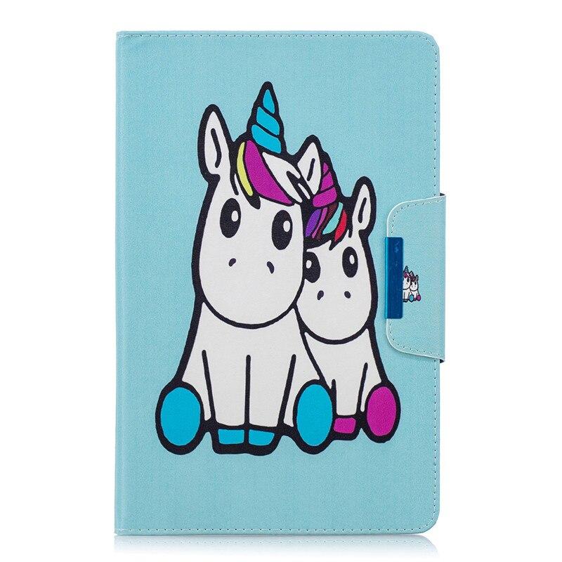 Blue unicorn Black Funda for iPad Pro 11 2020 Case Kawaii Unicorn Panda Flamingo Tablet Cover For Coque iPad