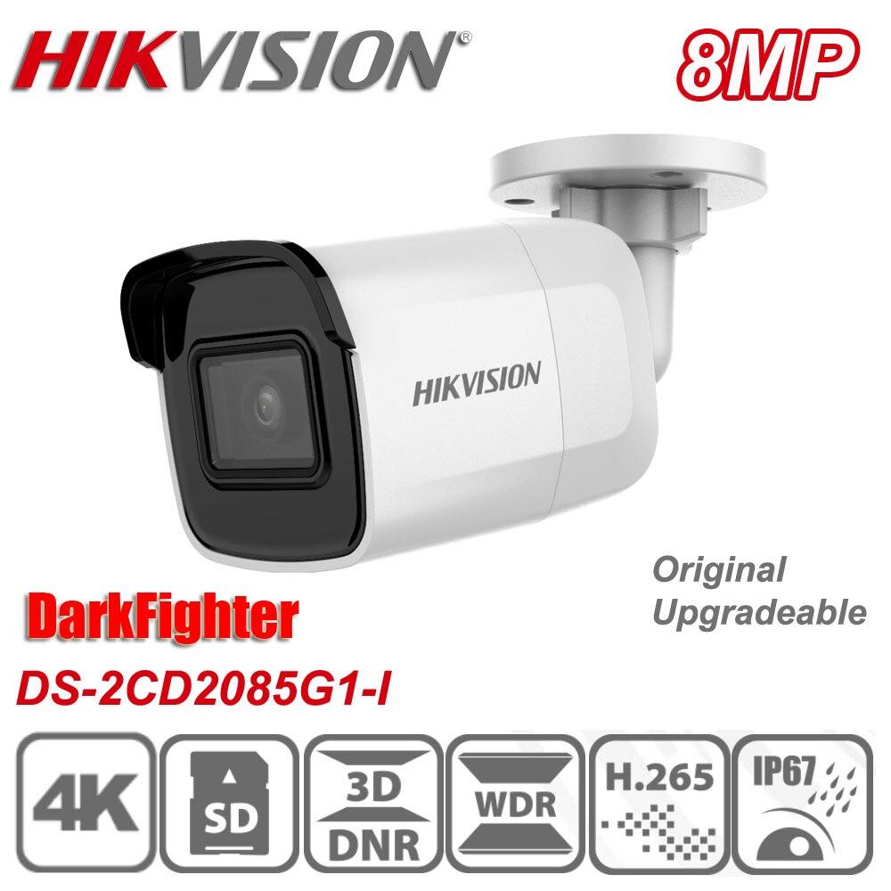 Original hikvision 8mp DS-2CD2085G1-I 4k poe ir ip67 h.265 darkfighter bala mini câmera ip de rede