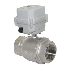 2 way NPT NSF certified 1 1/4'' stainless steel SS304 DC12-24v CR202 manual override included electric ball water valve tf15 s2 b dn15 stainless steel normal close open valve 2 5 wires bsp npt 1 2 ac dc9v 24v electric water valve