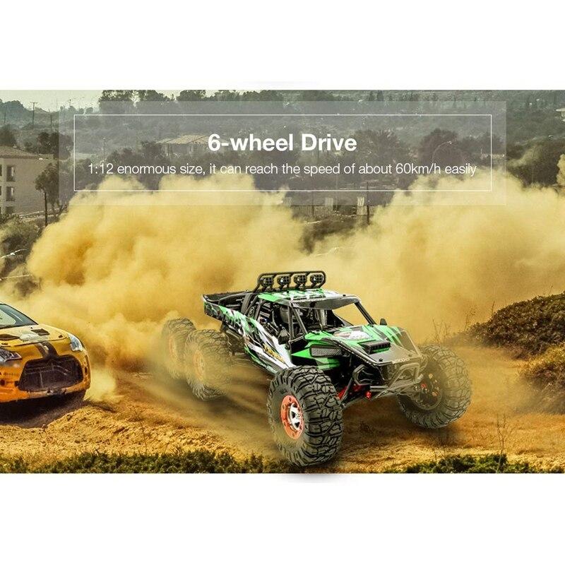 KW C06 1:12 2,4 Ghz 6WD RC внедорожный пустынный грузовик RTR 60 км бесщеточный высокоскоростной амортизатор гоночных автомобилей игрушки - 2