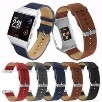 Fitbit-correas iónicas de cuero genuino para reloj, Accesorios inteligentes de repuesto, Correa deportiva