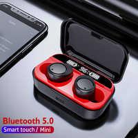 Arlado X5 Bluetooth V5.0 écouteur stéréo Sport avec affichage LED écouteurs sans fil