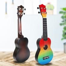 Ukulele Hand-Gemalt Combo 21 Ukulele Schwarz Sopran 4 Strings Uke Bass Saiten Musical Instrument Perfekt für Anfänger