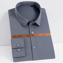 Shirts Stretch Solid-Dress Long-Sleeve Pocket-Less-Design Men's Fashion Soft Smooth Easy-Care
