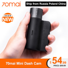 Original 70mai Mini Dash Cam Smart Car DVR Camera Wifi 1600P HD Night Vision 140FOV Car Camera Video Recorder APP Control(China)