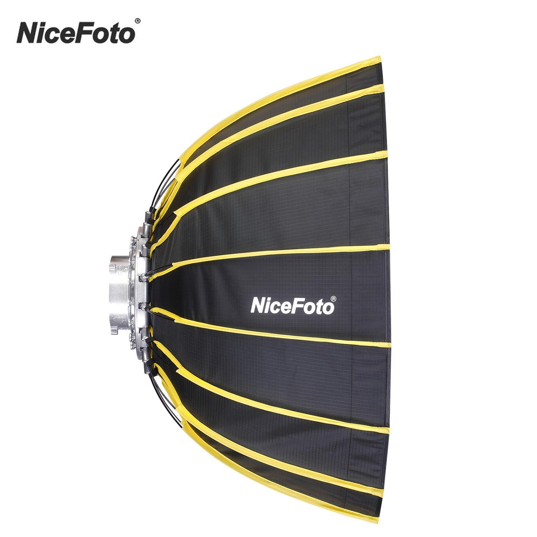 NiceFoto Fast Installation Hexagonal Softbox 60cm / 23.6inch with Soft Diffuser Cloth for Speedlite Studio Photography Light