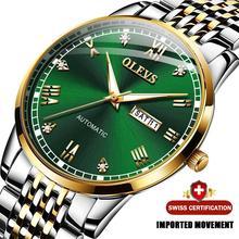 Olevs Mannen Mechanische Horloge Luxe Automatische Horloge Sport Roestvrij Staal Waterdichte Horloge Mentop Merk Relogio Masculino 6602