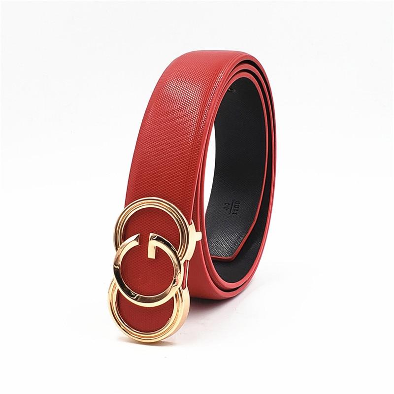 Black  Belts For Men Women Smooth Buckle Designer Luxury Straps 2019 New Belt
