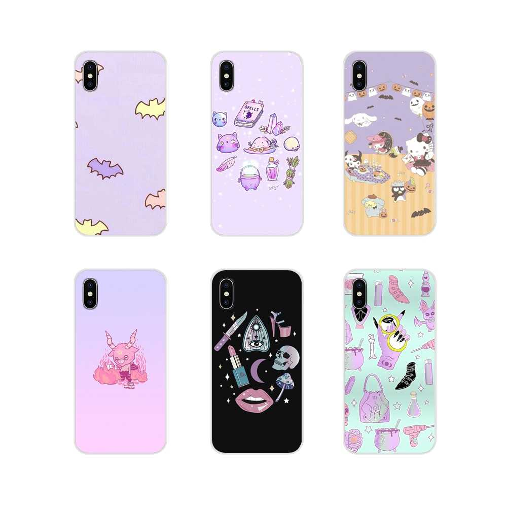 For Huawei G7 G8 P7 P8 P9 P10 P20 P30 Lite Mini Pro P Smart Plus 2017 2018 2019 Accessories Cases Covers Girly Pastel Witch Goth