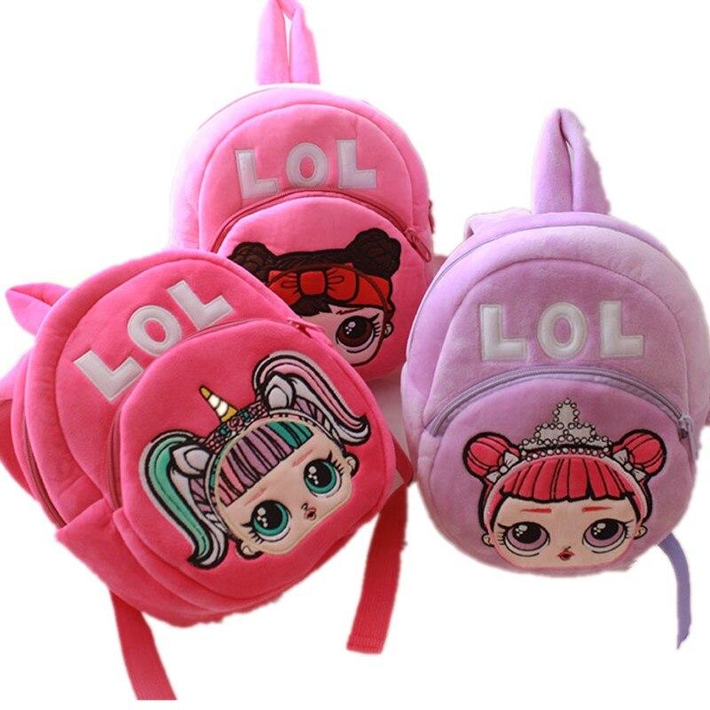 Mochila Cartoon Kids Plush LOLS Backpack Toy School Bag Children's Sac A Dos Enfant Baby Backpack Boy Girl Baby Student Bags