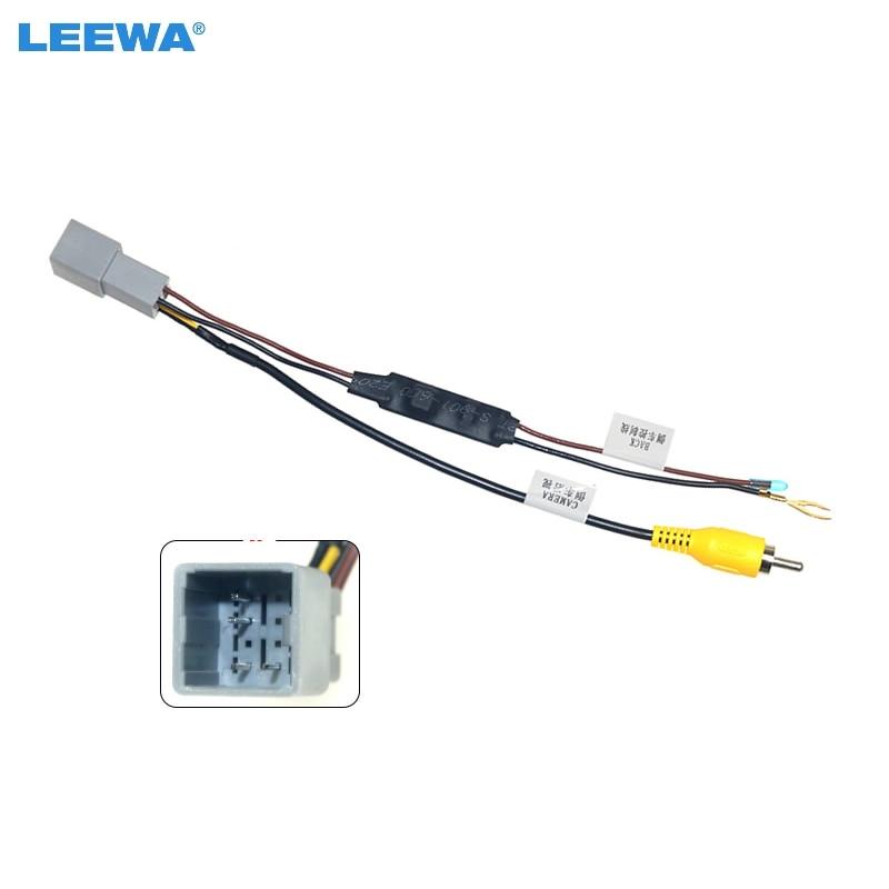 LEEWA 10pcs Car Parking Rear Camera Video Plug Converter Cable For Honda Fit Greiz City parking Reverse Wire Adapter #CA6562