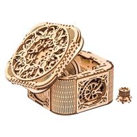 Cipher Code Deposit Box 3D Puzzles Mechanical Treasure Box White Birch Model DIY Wooden Jewelry Box Birthday Christmas Wedding
