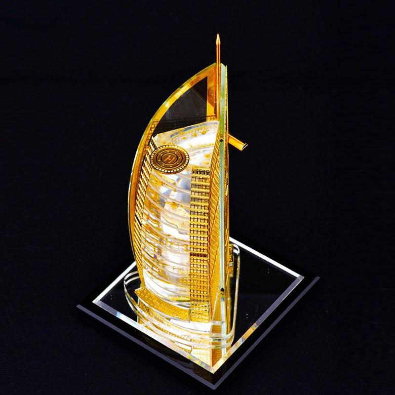 Hôtel de voile sept étoiles à dubaï cristal assemblage Souvenirs décoration tour bâtiment structure édifice modèle d'architecture