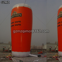 Inflatable beer cup 6m h inflatable beer glass / 20 feet high giant inflatable beer glass inflatable toy