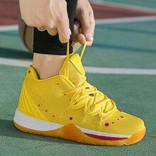 Роскошные Брендовые мужские баскетбольные кроссовки с нескользящей подошвой, Спортивная мужская обувь на шнуровке, Спортивная мужская обувь, весенние мужские баскетбольные кроссовки с высоким берцем