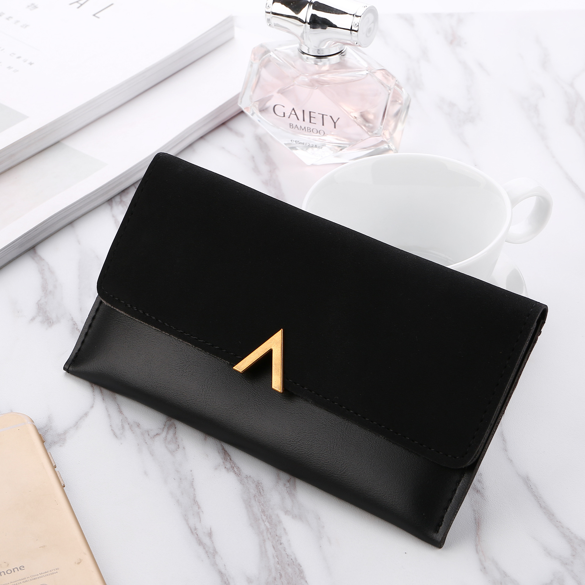 2020 Leather Women Wallets Hasp Lady Moneybags Zipper Coin Purse Woman Envelope Wallet Money Cards ID Holder Bags Purses Pocket